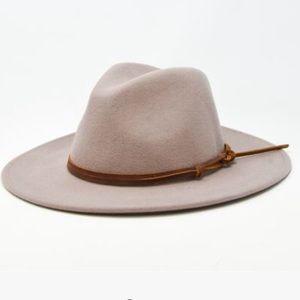 Billie taupe fedora hat